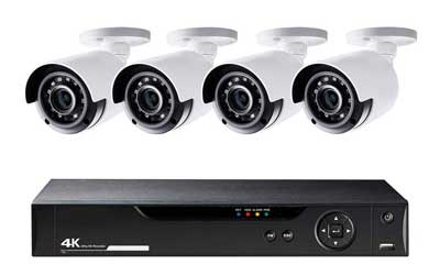 CCTV 4 Cameras + DVR Systems